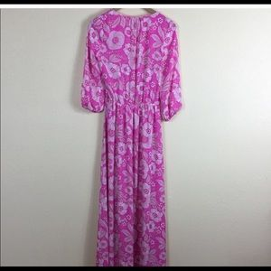 Juicy Couture Dresses - JUICY COUTURE LONG PINK FLORAL MAXI DRESS